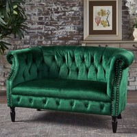 Milani Emerald Loveseat