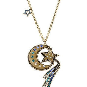 BetseyJohnson.com - MOON AND STAR NECKLACE GOLD