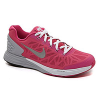 Nike Girls' Lunarglide 6 Running Shoes - Hot Pink/White/Wolf Grey/Meta