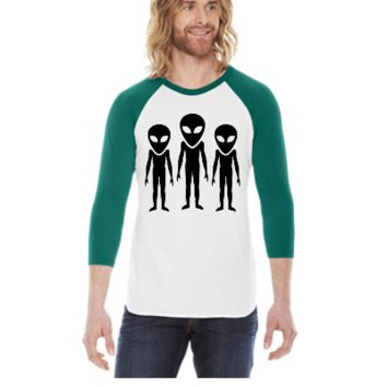 Alien -  3/4 Sleeve Raglan Shirt