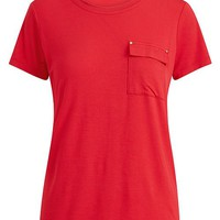 Lauren Ralph Lauren Pocket T-Shirt Women - Tops - Macy's