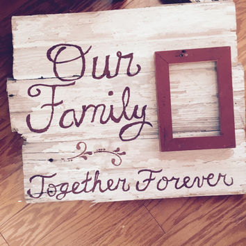 Our Family Rustic Barnwood Sign