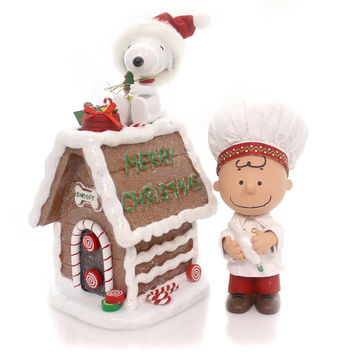 Possible Dreams Snoopy's Gingerbread House Christmas Figurine