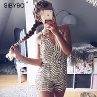 Jumpsuit Romper with Sequins