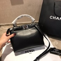 FENDI Women Leather Shoulder Bag Satchel Tote Handbag Shopping Leather Tote Crossbody Satchel Shoulder Bag