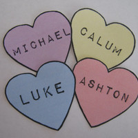 5 Seconds of Summer - 5sos heart stickers (set of 4)