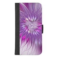 Pink Purple Flower Passion Abstract Fractal Art iPhone 8/7 Plus Wallet Case