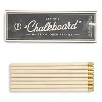 Kitchen Papers by Cake White Chalk Pencils (Set of 8)