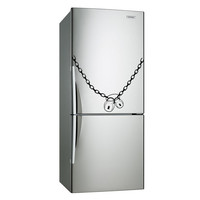 Vinyl Fridge Decal Lock & Chain / Locks that Close Refrigerator Art Decor Removable Home Sticker / DIY Mural + Free Random Decal Gift!