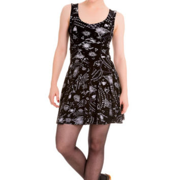 Ouija Board Pentagram Cutout Dress