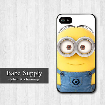 Despicable Me Minion iPhone 5 case, Disney iPhone 5 hard case, Cute cover skin case for iphone 5 (Hard / Rubber case for choice)