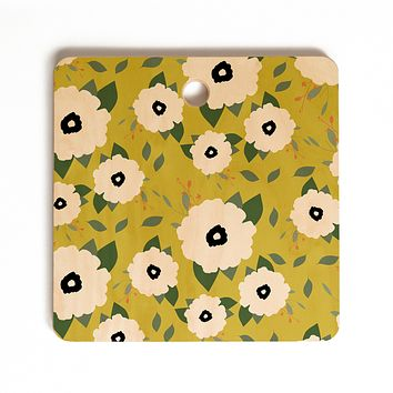Allyson Johnson Garden Floral Cutting Board Square