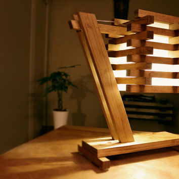 Wood Table/Desk/Bedside Lamp III