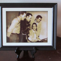 The Million Dollar Quartet - Elvis, Johnny Cash, Jerry Lee Lewis and Carl Perkins - Framed 11 x 14 Poster Print