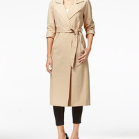 GUESS Madelina Long Trench Coat | macys.com