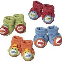 Sock Monkey Baby Booties