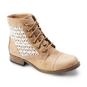 Route 66 Women's Raleigh Tan Lace Combat Boot