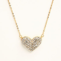 Rhinestone Heart Necklace - LoveCulture
