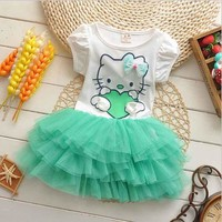 Summer Hello Kitty Girl Princess Tutu Dress