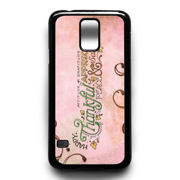 Happy Thankful Appreciaton Samsung Galaxy S5 Case