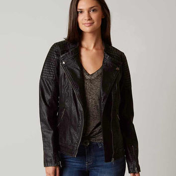 BKE Faux Leather Moto Jacket - Women's Coats/Jackets in Black | Buckle