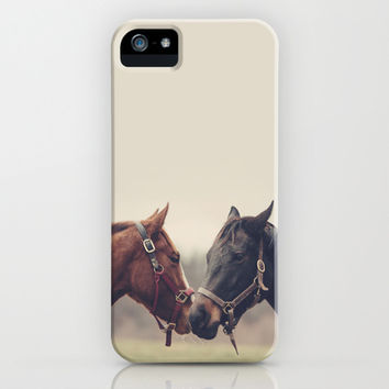 Horses iPhone & iPod Case by Laura Ruth