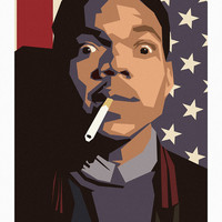 Chance the rapper minimalist illustration // chance rapper illustration minimal noisy texture chance the rapper acid rap music artwork