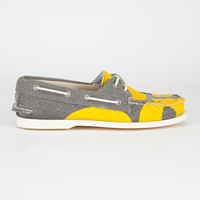 Sperry Top-Sider Cloud Logo Authentic Original Mens Boat Shoes Paint Yellow/Gray  In Sizes