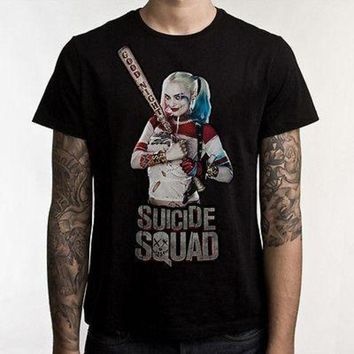 LMFYV3 Suicide Squad T-Shirt Suicide Squad Heroes Cotton T shirt Harley Quinn Joker Tops Tees