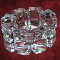 Crystal Tea Light Candle Holder, Vintage Crystal