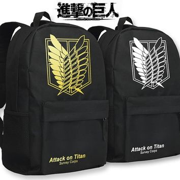 Cool Attack on Titan MeanCat  Survey Sorps Wings of Liberty School Shoulder Backpacks for Students and Adult Comic Fans AT_90_11