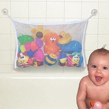 Useful Durable Baby Kids Bath Toys Pouch Storage Net/Mesh Bag With Strong Sucker = 1705933892