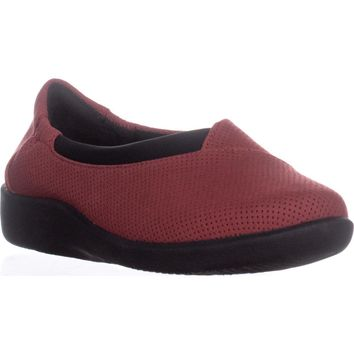 Clarks Sillian Jetay Slip On Comfort Loafers, Red Textile, 7 US / 37.5 EU