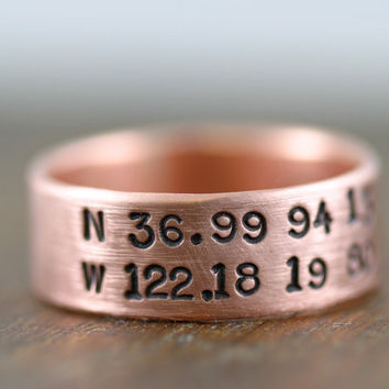 Personalized Copper Ring