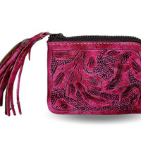 Sheridan Tooled Tassel Small Wallet - Vaquetta Rose