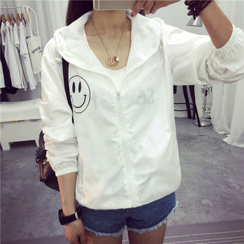 Fashion women Bomber Basic Jacket Pocket Zipper hooded