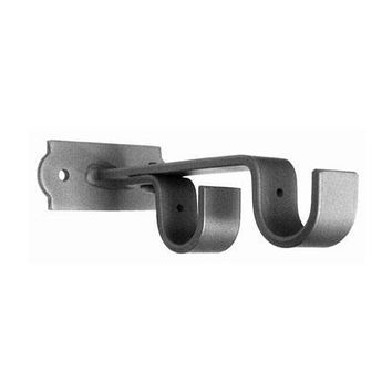 ONA Drapery Double Horizontal Deco Base Wrought Iron Center Support Bracket