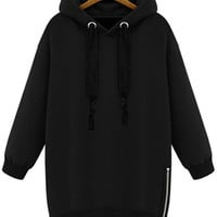 Long Sleeves Solid Color Hoodie