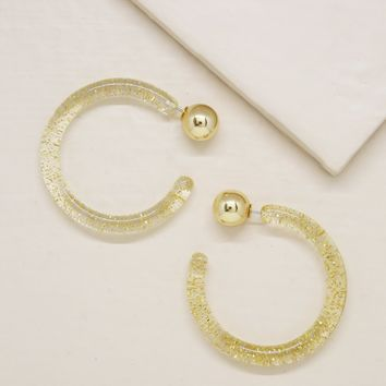 Gemini Hoops in Gold Flecked and Gold