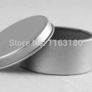 12 pcs/lot Blank Round Metal Tin Box Survival Kit Containers Silver color cosmetic storage box free shipping