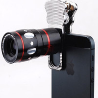 10x Zoom Telephoto Fish Eye Wide Angle Micro Clip Lenses
