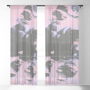 Forgetfulness Sheer Curtain by duckyb