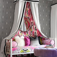 Teen Girls Black and White Bedroom - Design Dazzle