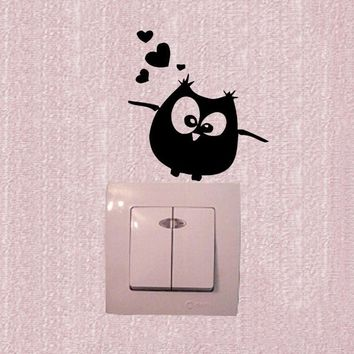 Wall Stickers Owl Birds Branch Heart For Kids Baby Room Vinyl Wall Decal 3SS0154