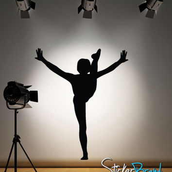 Vinyl Wall Decal Sticker Gymnastics Kick #810