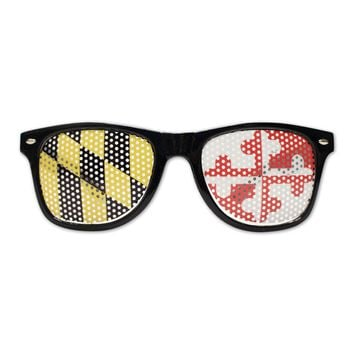Black Maryland Flag LOGO Lenses / Shades