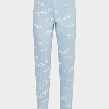 Versace High Vintage Logomania Jeans for Women | US Online Store