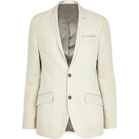 River Island MensWhite slim suit jacket