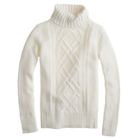 Pre-order Cambridge cable turtleneck sweater