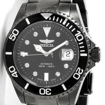 Invicta 6153 Men's Black Swiss Automatic Diamond Diver